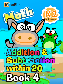 Addition & Subtraction within 20 - K2 - Book 4