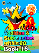 Addition & Subtraction within 20 - K2 - Book 16