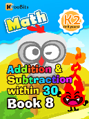 Addition & Subtraction within 30 - K2 - Book 8
