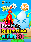 Subtraction within 20 - K2 - Book 13