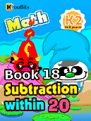 Subtraction within 20 - K2 - Book 18