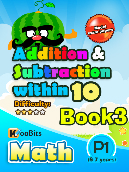 Addition & Subtraction up to 10 - P1 - Book 3