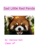 Sad Little Red Panda