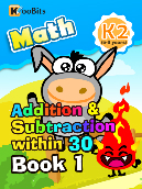 Addition & Subtraction within 30 - K2 - Book 1