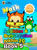 Addition & Subtraction within 20 - K2 - Book 5