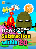 Subtraction within 20 - K2 - Book 20