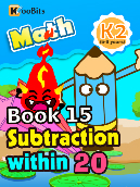Subtraction within 20 - K2 - Book 15