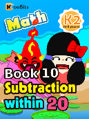 Subtraction within 20 - K2 - Book 10