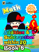 Addition & Subtraction within 20 - K2 - Book 6