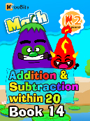 Addition & Subtraction within 20 - K2 - Book 14