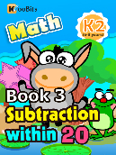 Subtraction within 20 - K2 - Book 3