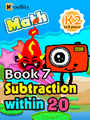 Subtraction within 20 - K2 - Book 7