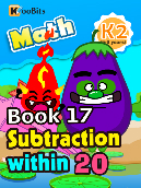 Subtraction within 20 - K2 - Book 17