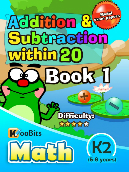 Addition & Subtraction within 20 - K2 - Book 1