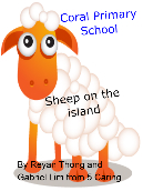 Sheep on the island