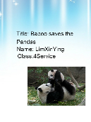 Baboo saves the Pandas