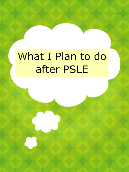 What I Plan to do after PSLE