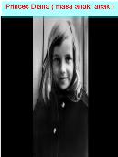 Princess Diana (Masa Anak – anak )