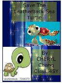 Save The Leatherback Sea Turtle