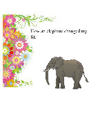 How an elephant changed my life